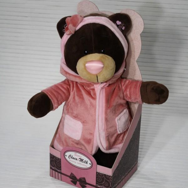Медведь в розовом халатике 30 см