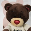 Медведь в свитере с сердцем 25 см