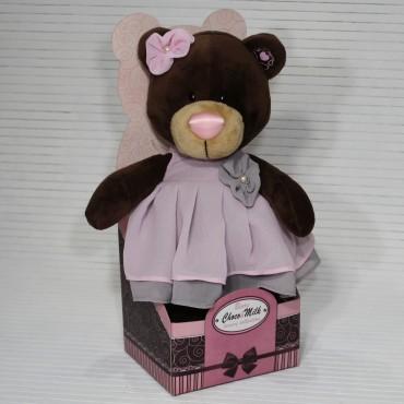 Медвежонок в бальном платье 30 см