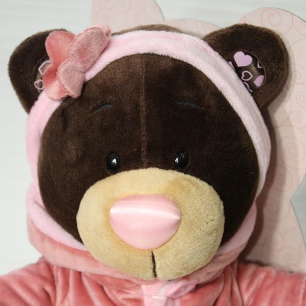 Медвежонок в бархатном платье 25 см