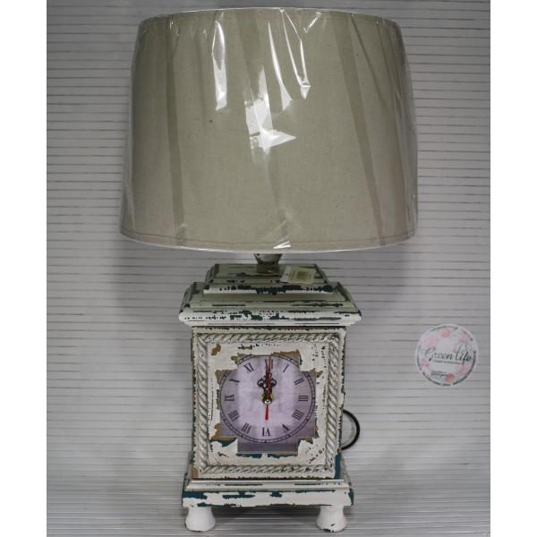 Лампа с часами и шкатулкой 52,5 см